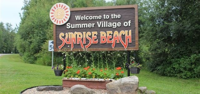 Summer Village of Sunrise Sign